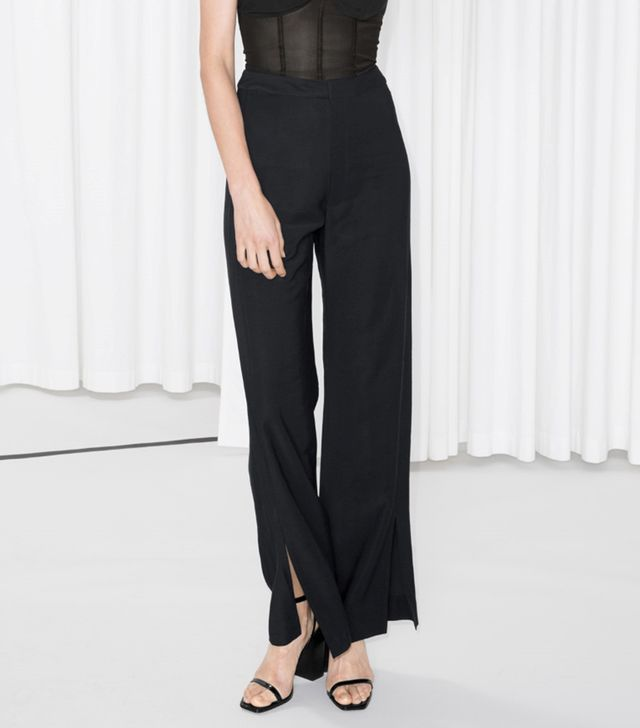 & Other Stories Front Slit Trousers