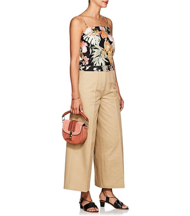 Women's Tropical-Floral Silk Cami