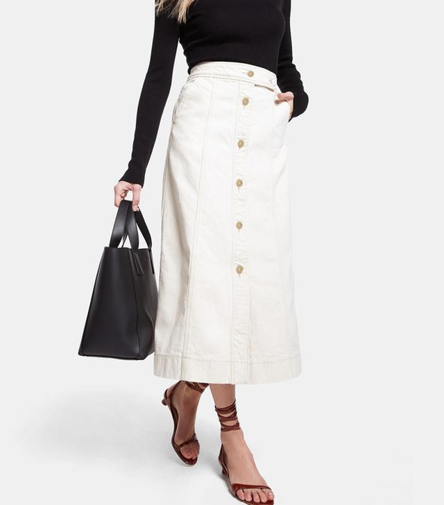 Goop Label Ann Hazel Button-Front Skirt