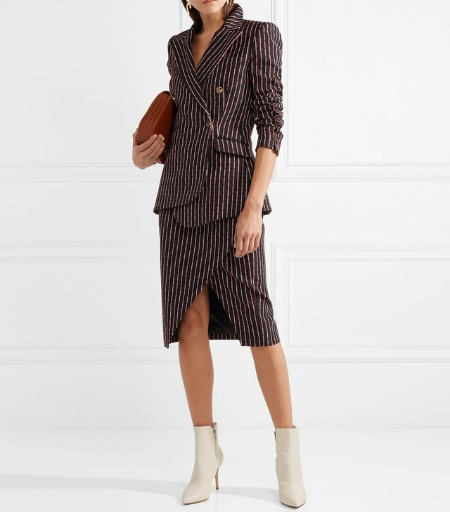 Wall Pinstriped Cotton-Blend Blazer
