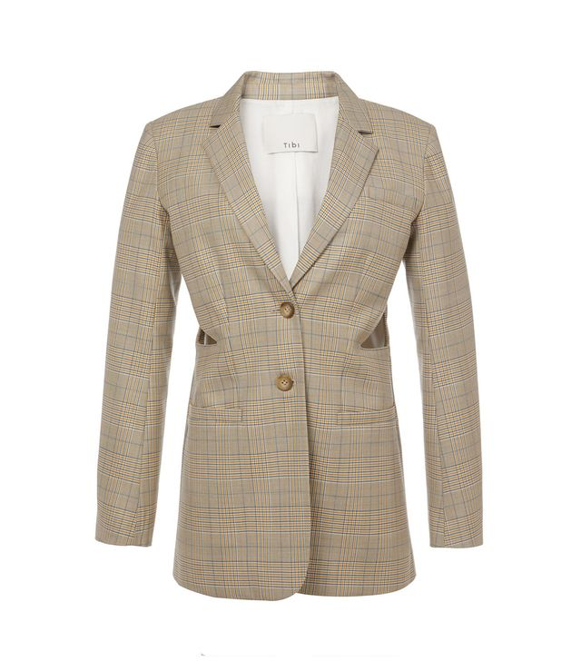 Cooper Silk Wool Cut Out Blazer