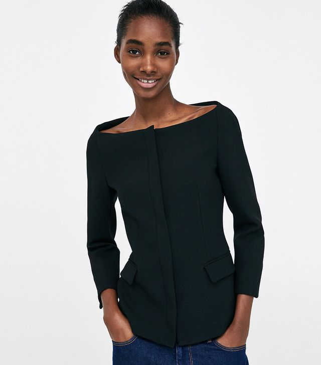 Zara Blazer With Open Neckline