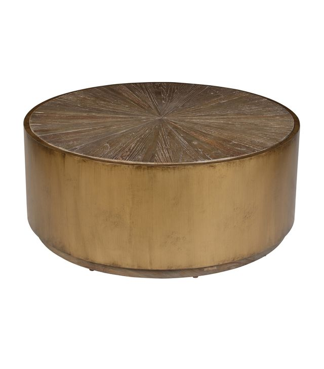 Kosas Home Salsbury Antique Gold Reclaimed Wood Coffee Table