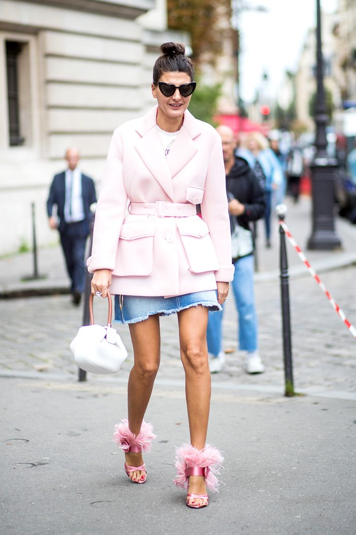7 Cool Jean Skirt Outfits For Spring Who What Wear
