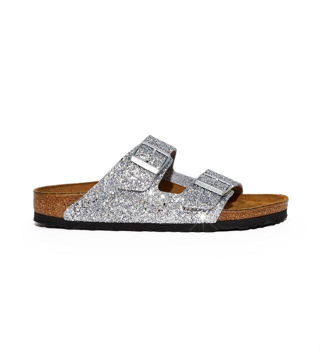 Birkenstock x Opening Ceremony OC Glitter Arizona Sandals in Silver