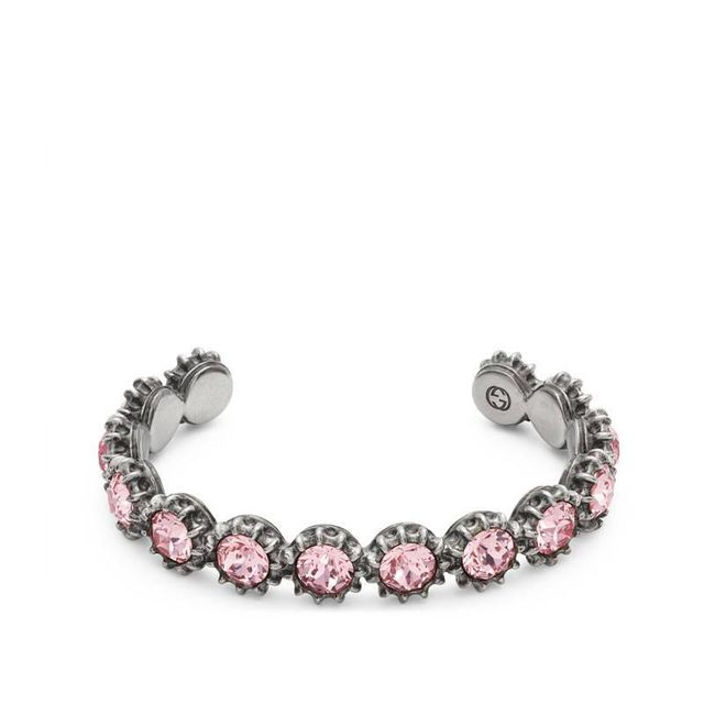 Gucci Cuff Bracelet With Crystals