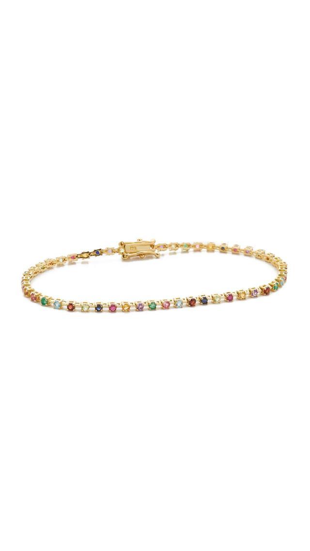 14k Gold Candy Crush Tennis Bracelet