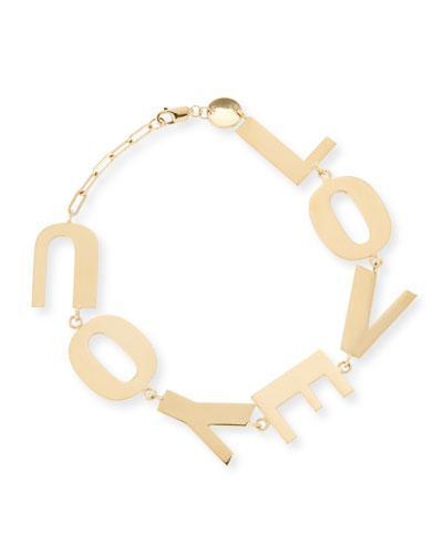 Jennifer Zeuner Love You Bracelet in 18K Gold Plate