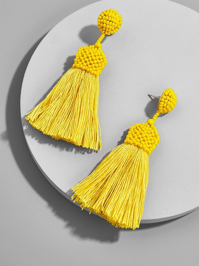 BaubleBar Sunglow Tassel Earrings