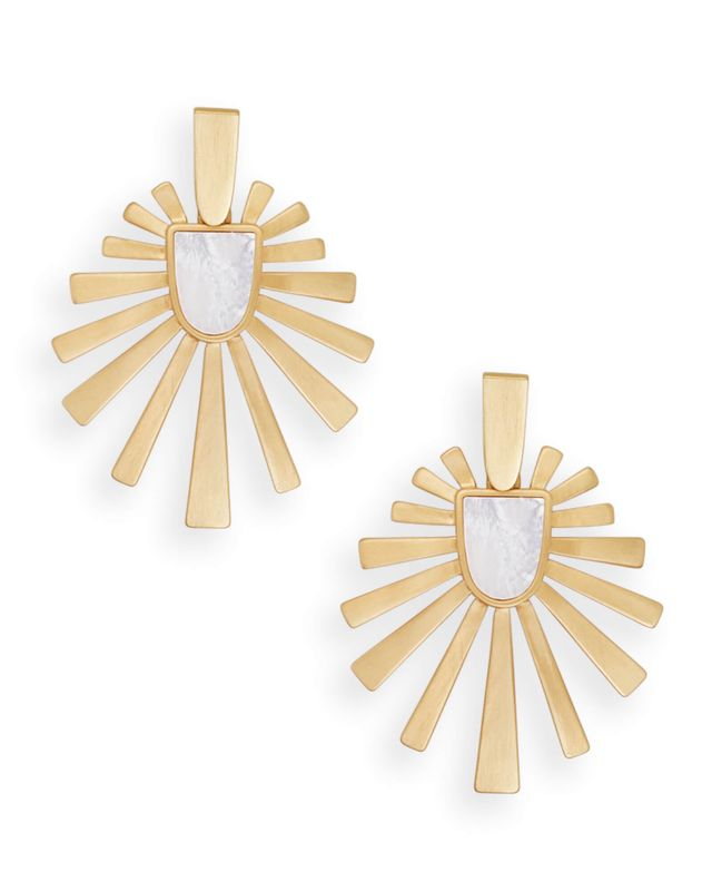 Kendra Scott Cambria Statement Earrings In Gold