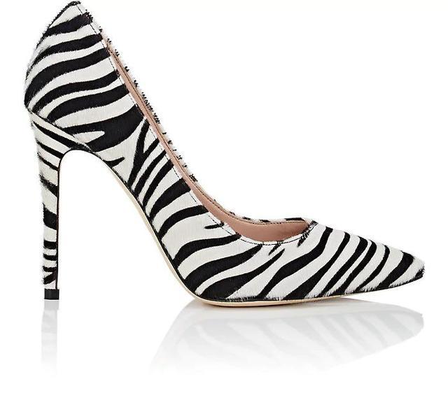 Women's Zebra-Print Calf Hair Pumps