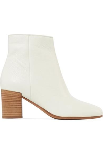 Blakely Textured-leather Ankle Boots