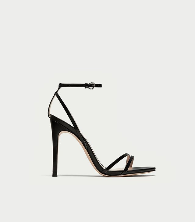 Zara Patent Leather Sandals With Straps