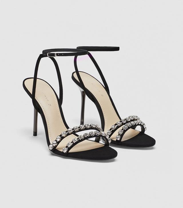 Zara Jeweled Leather Sandals