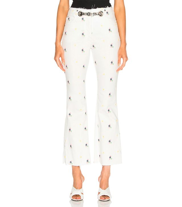 Miaou Mimi Embroidered Crop Flare