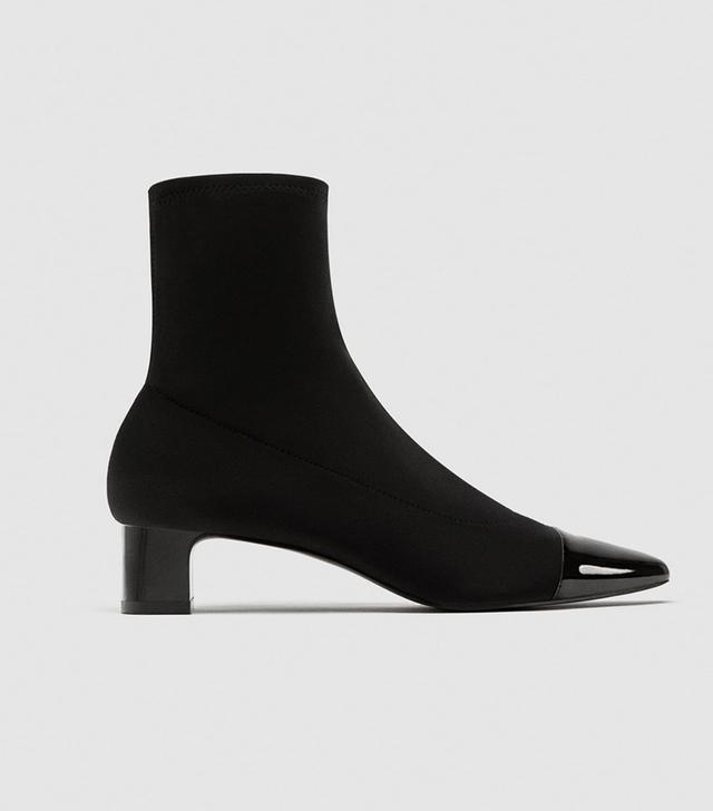Zara Stretch High Heel Ankle Boots