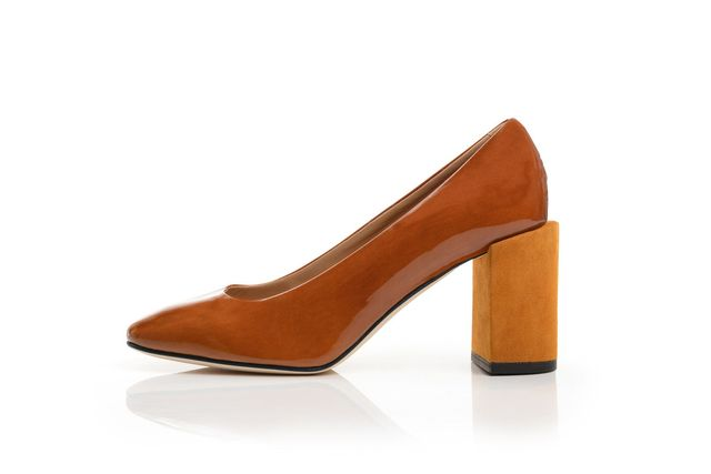 Dear Frances Nina Pump in Rust