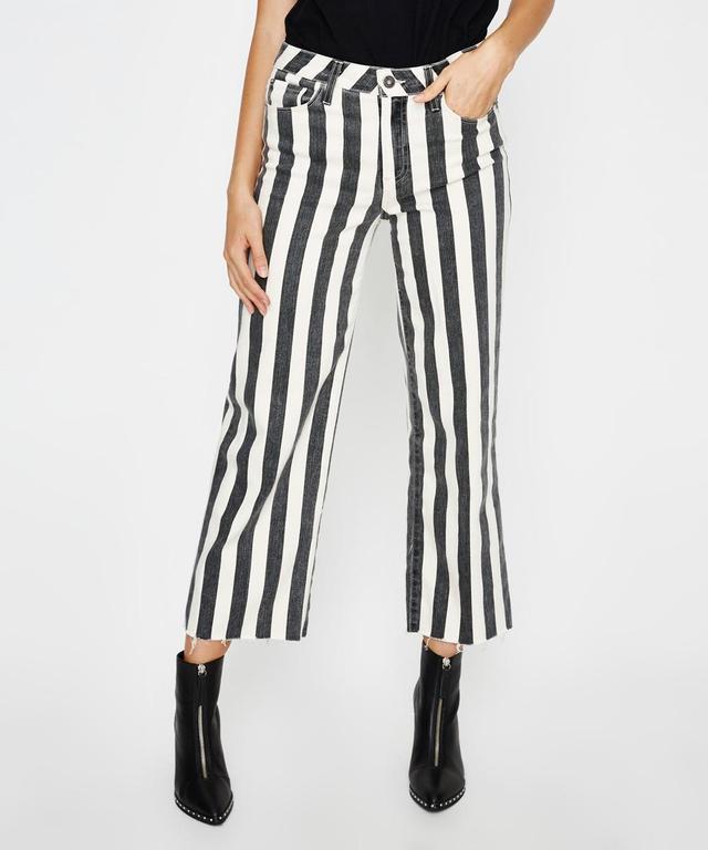 Paige Nellie Culottes in Black Ecru Stripe