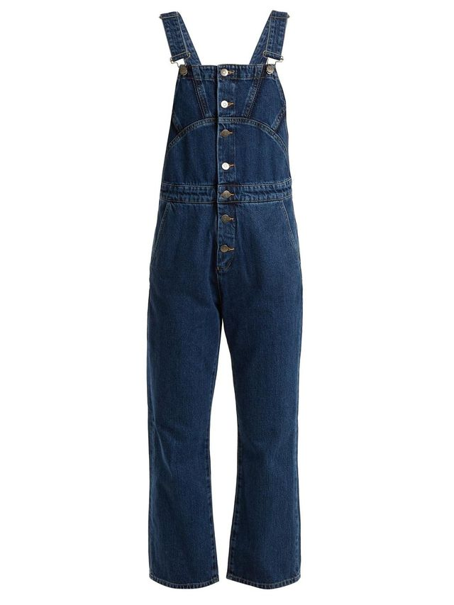 Tribe Button-Down Denim Dungarees