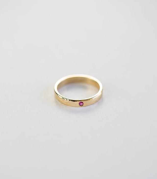 Octavia Elizabeth Single Etoile Ruby Ring
