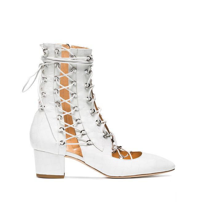 White Drury Lane 50 Leather Lace Up Boots