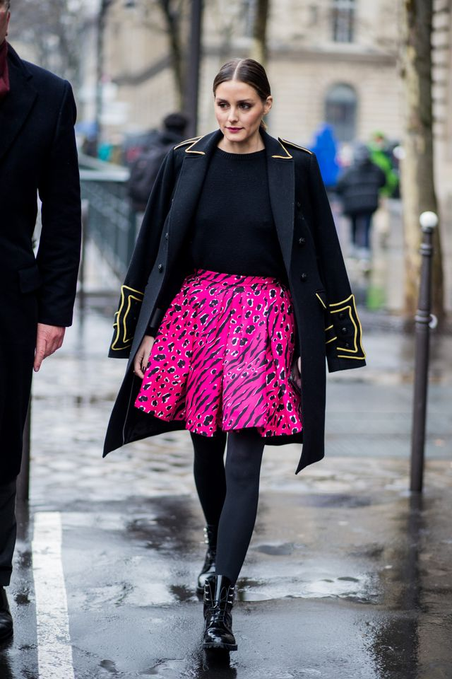 Military Jacket + Bright Skirt