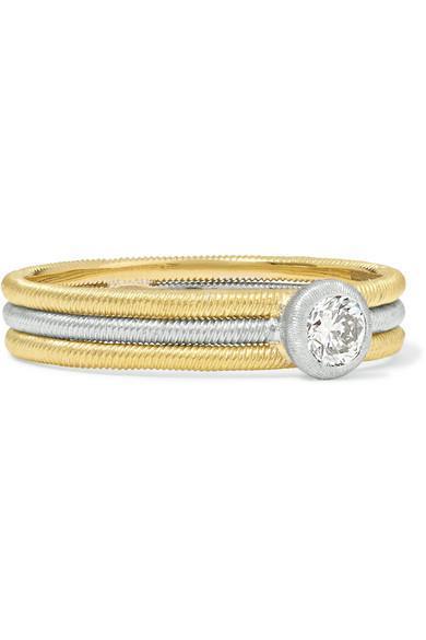Hawaii 18-karat Yellow And White Gold Diamond Ring
