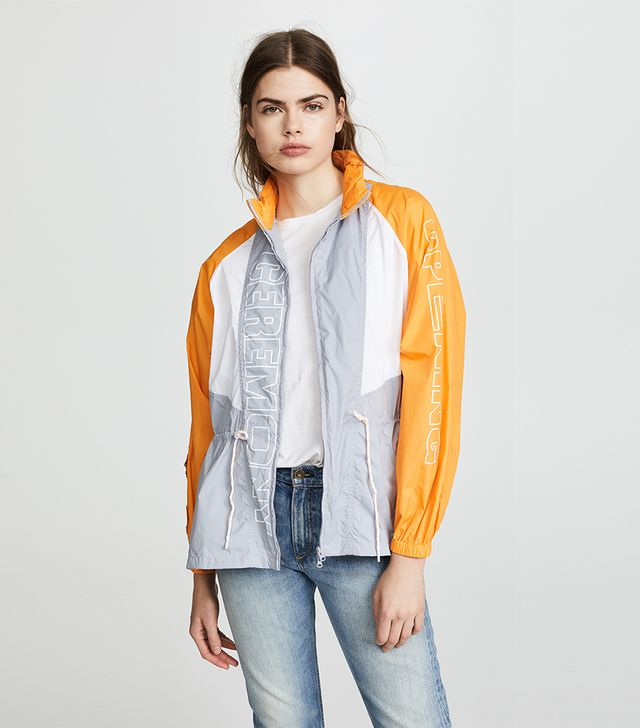 Nylon Zip Up Anorak Jacket