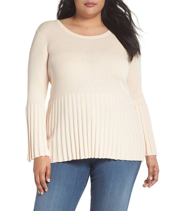Ribbed Cotton Blend Sweater