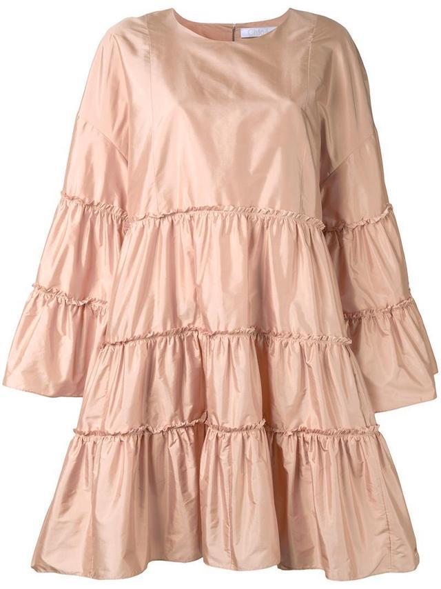 tiered parachute dress