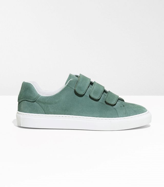 & Other Stories Scratch Strap Suede Sneaker