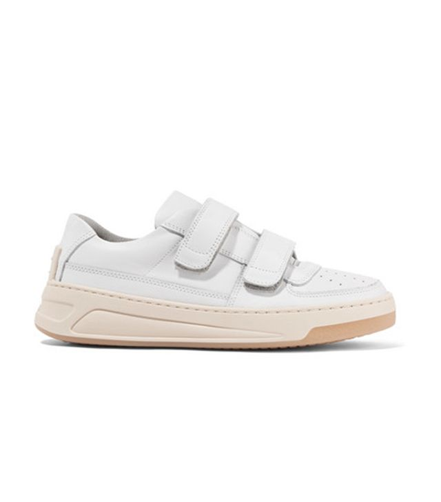 Steffey low-top Velcro-strap leather trainers