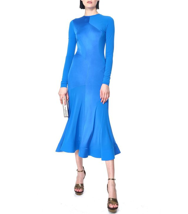 Esteban Cortazar Long Sleeve Full Circle Dress