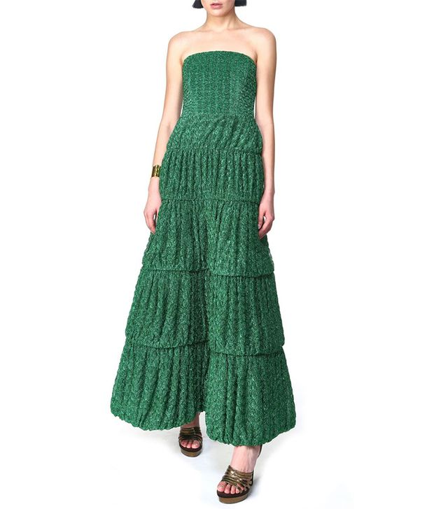 Missoni Strapless Ruched Gown