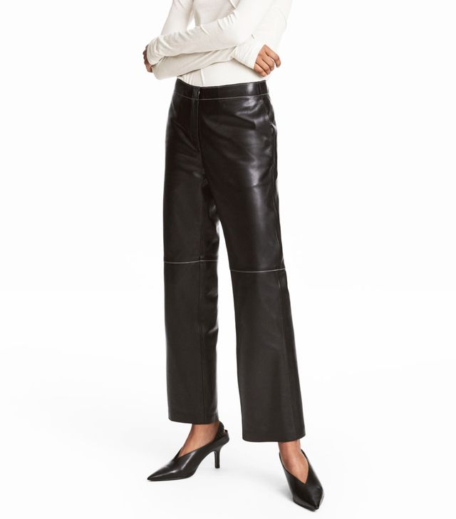 Ankle-length Leather Pants