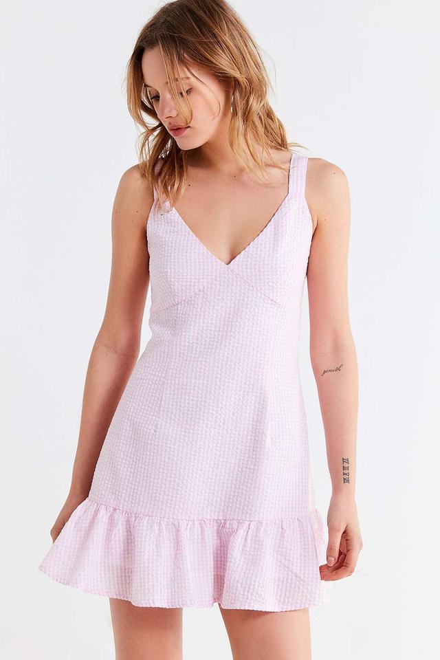 Gables Gingham Tie-Strap Dress