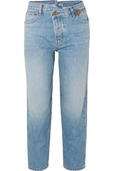 Dad Deconstructed Zip-Embellished Slim Boyfriend Jeans