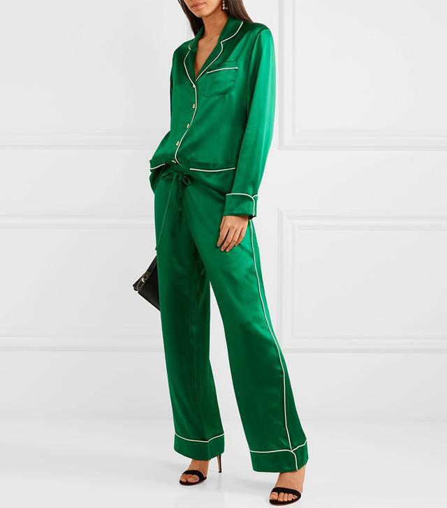 Coco Silk-satin Pajama Set