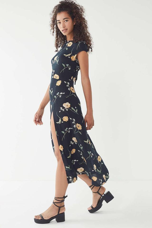 UO Lindsey Floral Slit Maxi Dress
