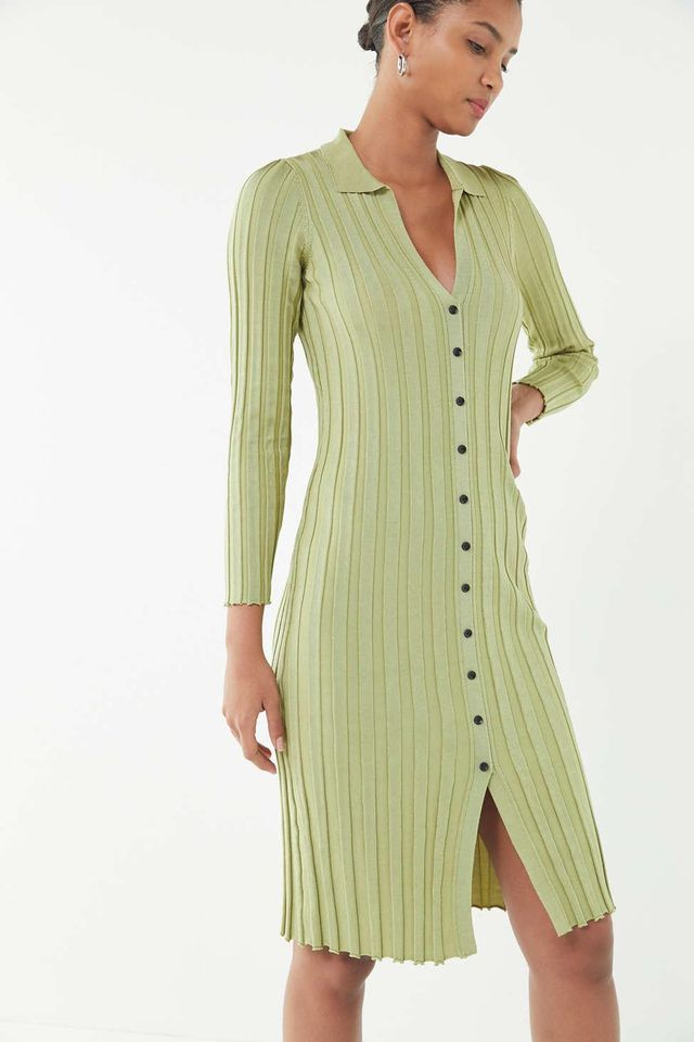 UO Alta Button-Down Sweater Dress