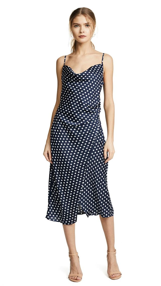 Re:named Polka Dot Slip Dress