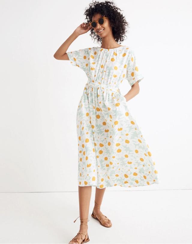 Madewell Tie-Back Maxi Dress in Mini Daisy