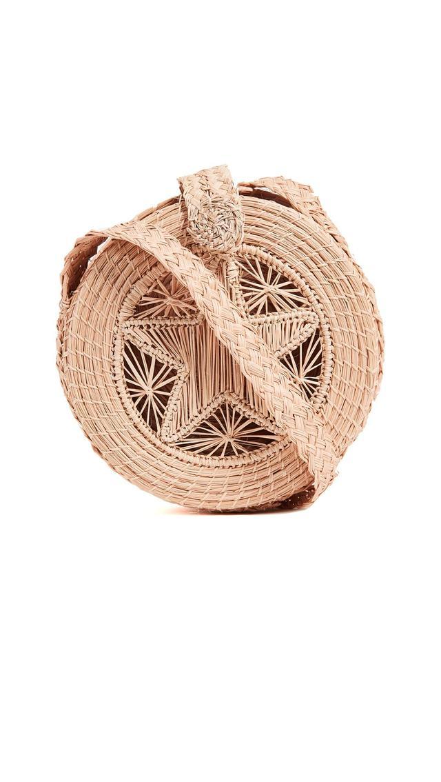 Akumal Woven Circle Cross Body Bag