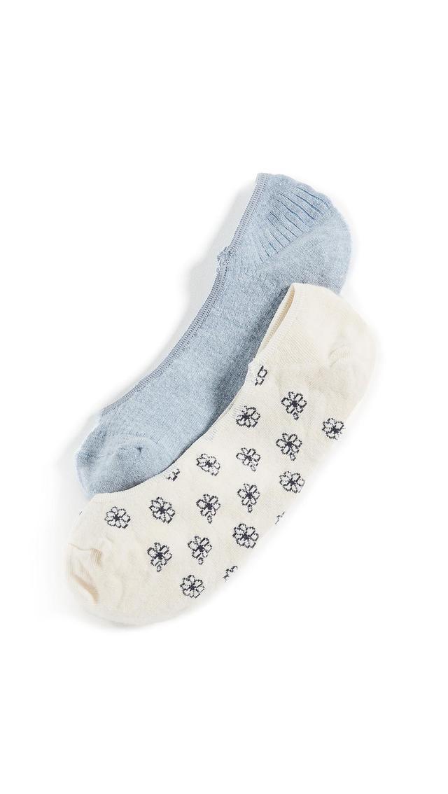 Daisy & Solid No Show Sock Set