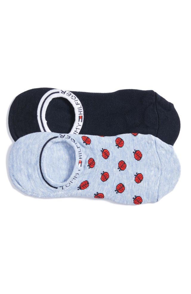 2-Pack Ladybug No-Show Socks