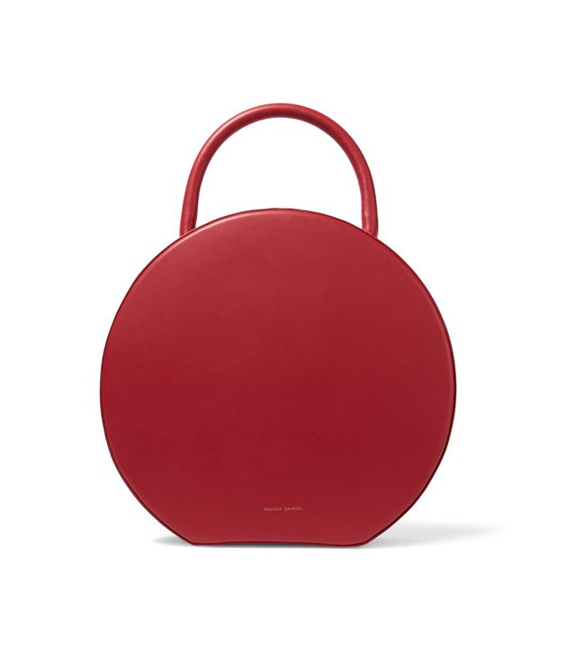 Circle Leather Tote