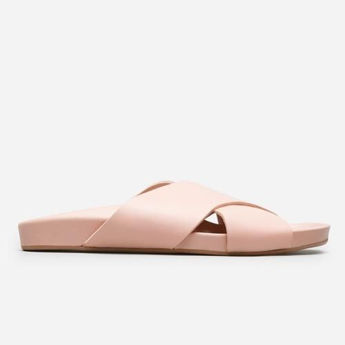 Women's Leather Crossover Sandal by Everlane in Pale Rose, Size 11