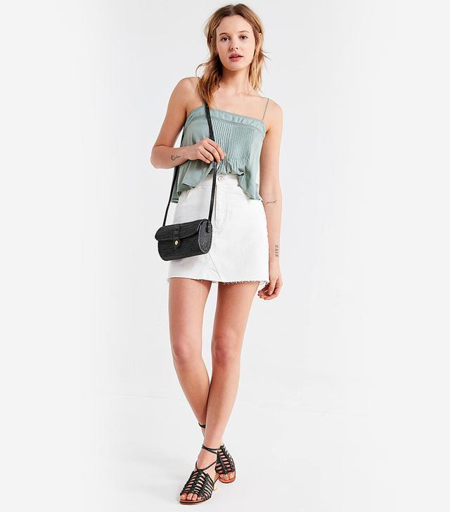 Re-Made Denim Mini Skirt