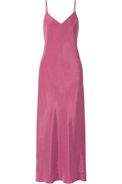 Ricky Washed-satin Midi Dress