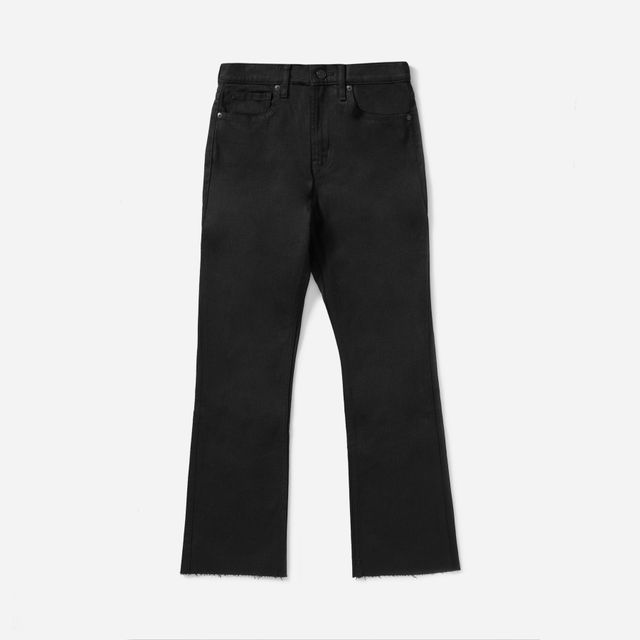 Women's High Rise Skinny Crop Raw Hem Jean by Everlane in Black, Size 32